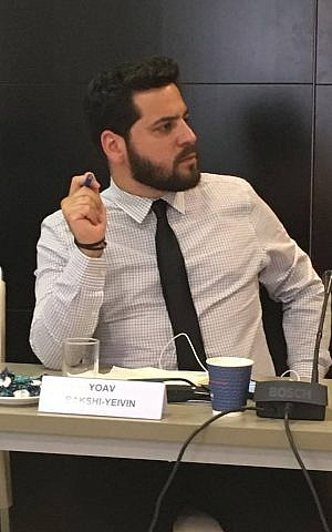 Yoav Yeivin, Jerusalem city council member for 'Wake-Up movement.' He has taken up the issues of East Jerusalem on his own accord. (Courtesy)