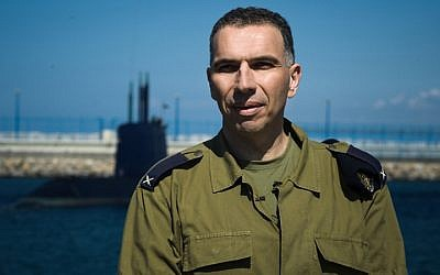 Then-Brig. Gen. Eli Sharvit in an undated photograph at the Haifa Naval Base. (Gadi Yampel/IDF Spokesperson's Unit)