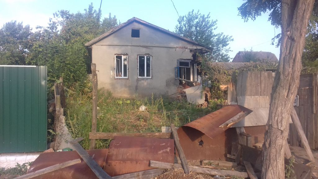 Eight homes were destroyed in Loshchynivka, Ukraine, in a pogrom against the Roma population reminiscent of anti-Semitic violence of 100 years ago. (courtesy of Marianna Zlobina)