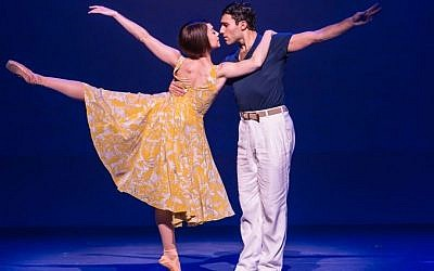 Leanne Cope and Dimitri Kleioris in  'An American in Paris,' directed and choreographed by Christopher Wheeldon, music and lyrics by George and Ira Gershwin, performed at the Palace Theatre. (Matthew Murphy)