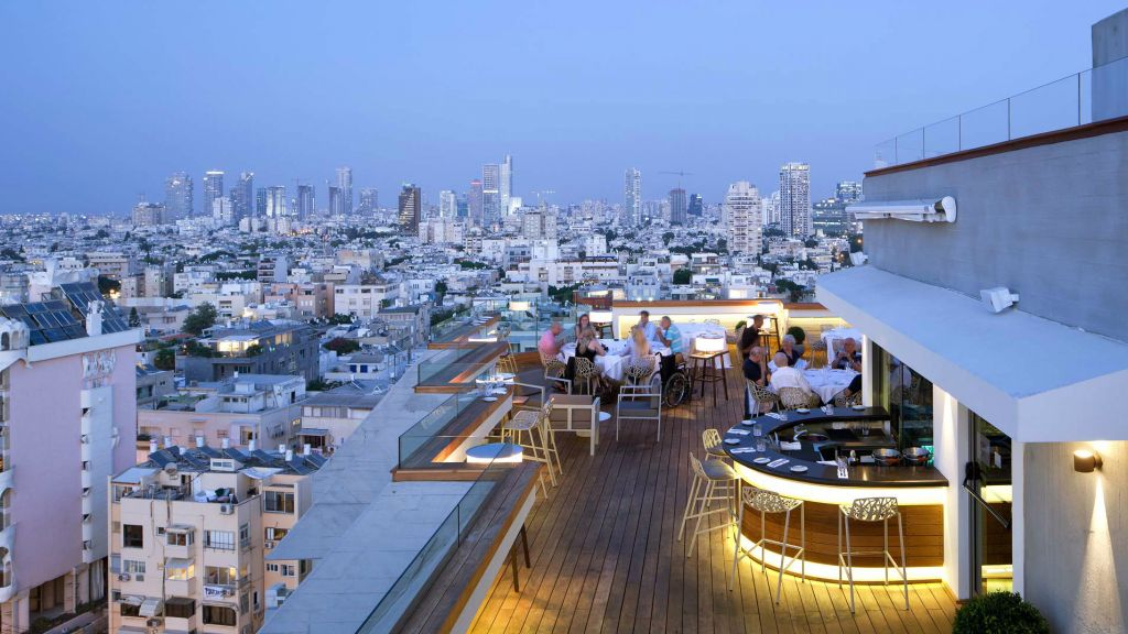 A View Of The Blue Sky Restaurant At Carlton Tel Aviv Which Was Recently