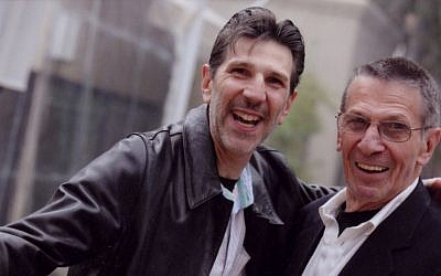 Richard Michelson (left) with Leonard Nimoy, often mistaken for father and son. (Silvia Mautner Photography)