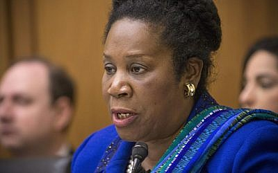 Democratic congresswoman Sheila Jackson Lee at the the US House Judiciary Committee on Capitol Hill in Washington, November 18, 2015. (AP Photo/J. Scott Applewhite)