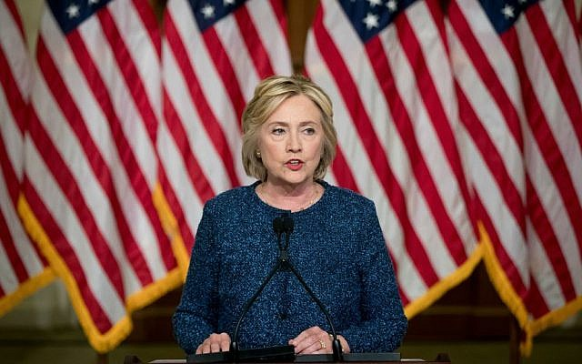 In this Sept. 9, 2016 file photo, Democratic presidential candidate Hillary Clinton speaks at the Historical Society Library, in New York. (AP Photo/Andrew Harnik. File)