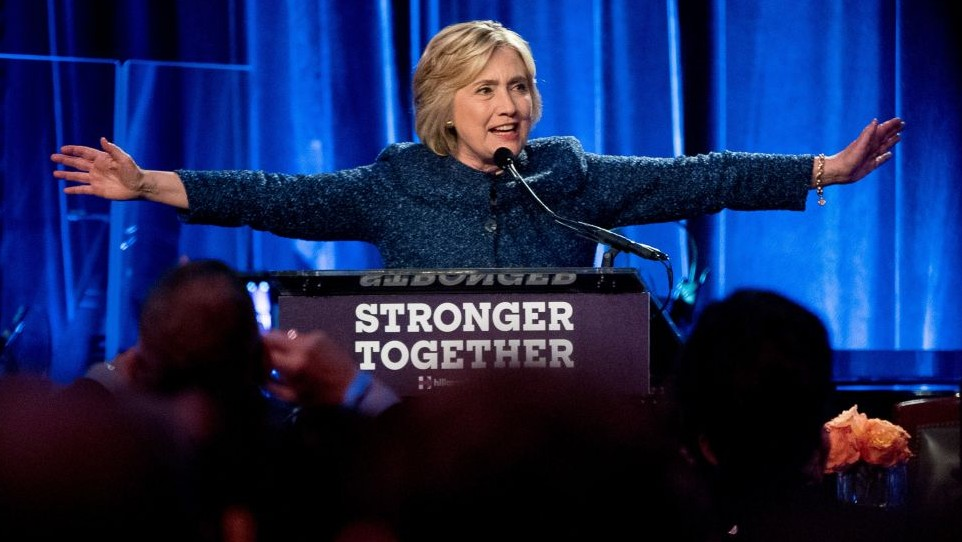 Democratic presidential candidate Hillary Clinton speaks at an LBGT For Hillary Gala at the Cipriani Club, in New York, Friday, Sept. 9, 2016 (AP Photo/Andrew Harnik)