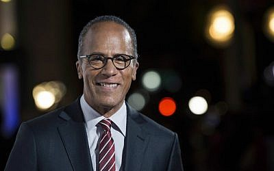 NBC Nightly News anchor Lester Holt arrives at the 9th Annual California Hall of Fame induction ceremonies at the California Museum, in Sacramento, California, October 28, 2015. (Jose Luis Villegas/The Sacramento Bee via AP, Pool, File)