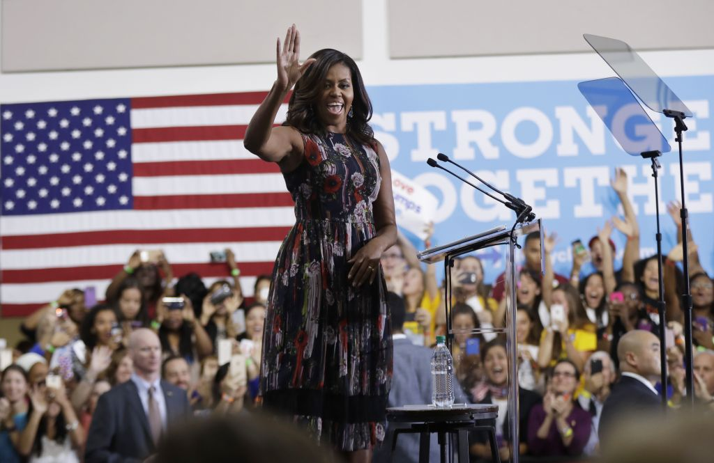 michelle obama makes campaign trail debut for clinton the times of