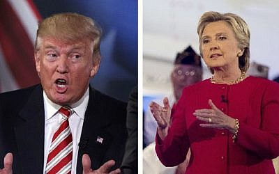 US presidential candidates Donald Trump and Hillary Clinton (AP)