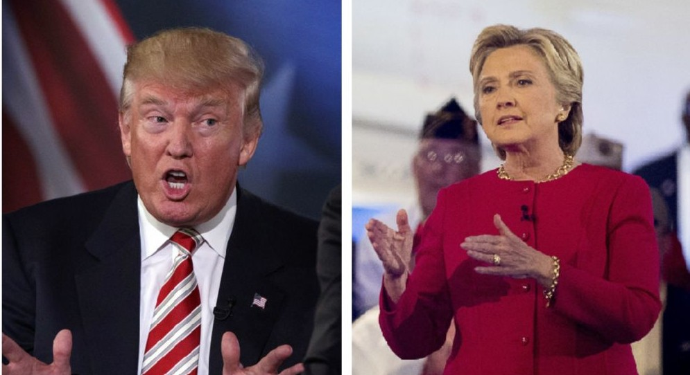 Presidential candidates Donald Trump and Hillary Clinton. (AP)