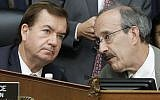 House Foreign Affairs Committee Chairman Congressman Ed Royce (left) and Congrerssman Eliot Engel during the committee's hearing on Iran, September 14, 2016. (AP Photo/Jacquelyn Martin)
