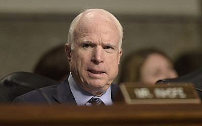 Senate Armed Services Committee Chairman Sen. John McCain, R-Arizona, speaks on Capitol Hill in Washington, September 15, 2016. (AP/Susan Walsh, File)