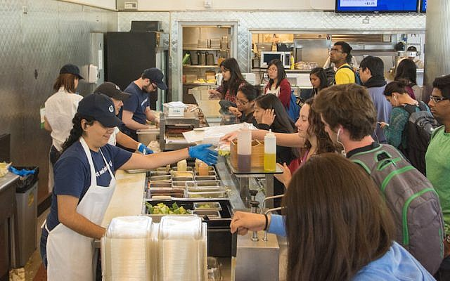 A student dining hall at UC Berkeley. (UC Berkeley Office of Public Affairs via JTA)