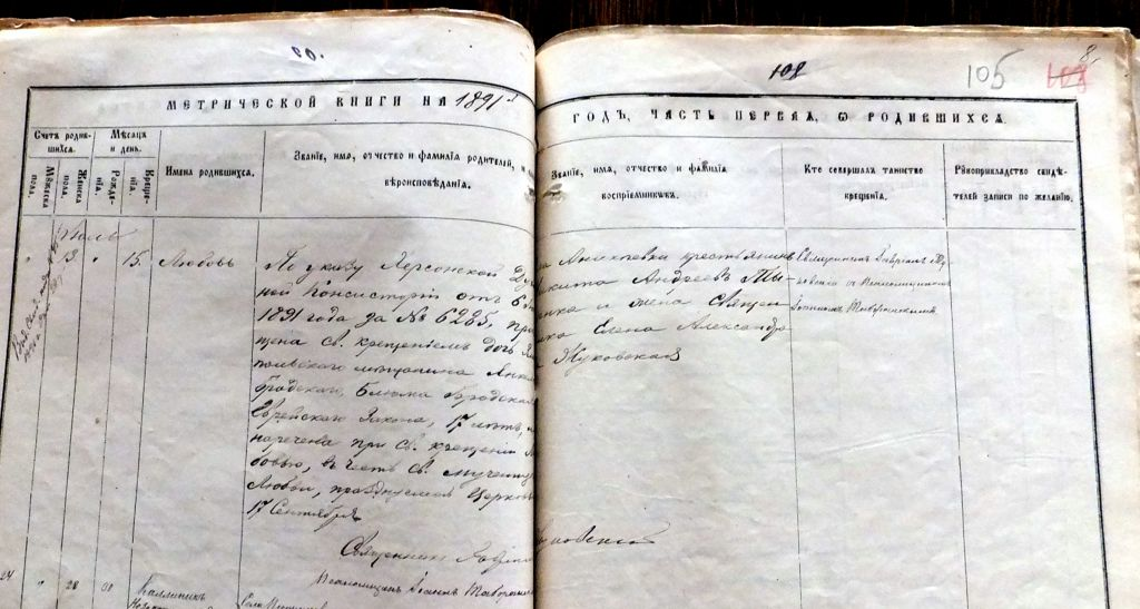The Christian conversion document of Daria Kurlianchick's Jewish ancestor. (Courtesy)
