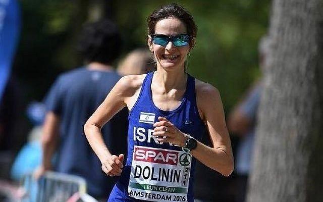 Elena Dolinin, holder of Israel's women's marathon record (Facebook)