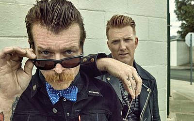 'Eagles of Death Metal' lead men Jesse Hughes and Joshua Homme, who met in high school and formed the band 20 years ago (Courtesy Eagles of Death Metal)