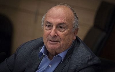 Chairman of the Knesset Labor, Welfare, and Health Committee, MK Eli Alaluf (Kulanu) in the Knesset, August 16, 2016. (Hadas Parush/Flash90)