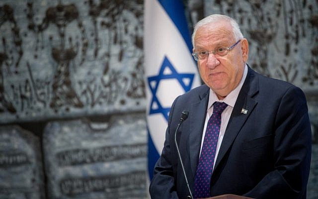 President Reuven Rivlin at the President's Residence in Jerusalem, September 14, 2016. (Yonatan Sindel/Flash90)