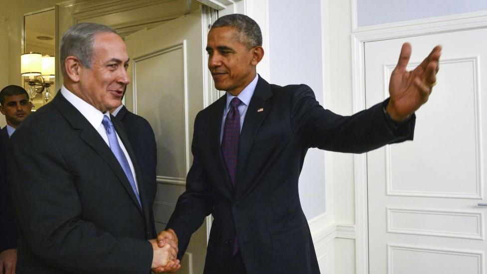 Prime Minister Benjamin Netanyahu meets with US President Barack Obama in New York, on September 21, 2016. (Kobi Gideon/GPO)