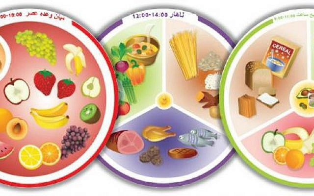 The Persian version of 'Plate my Meal' plates (Courtesy)