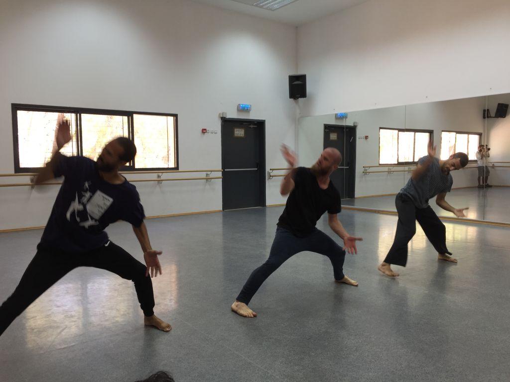 Three members of Ka'et Ensemble performing for Journey 4 of Mekudeshet on September 14, 2016 (Jessica Steinberg/Times of Israel)