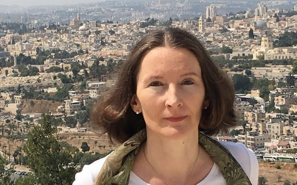 Monika Schwarz-Friesel, professor and author of 'Inside the anti-Semitic Mind,' whose English translation will be released this upcoming November. (Marc Neugröschel/Times of Israel)