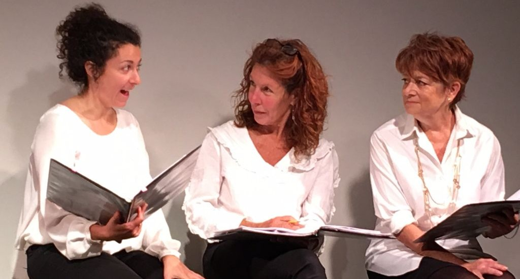Lisa Cirincione, Lisa Robins, and Kate Zentall tell stories from 18 Los Angeles women rabbis. (Courtesy)