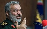 Commander of the Islamic Revolution Guards Corps (IRGC) Navy Rear Admiral Ali Fadavi. (Fars)