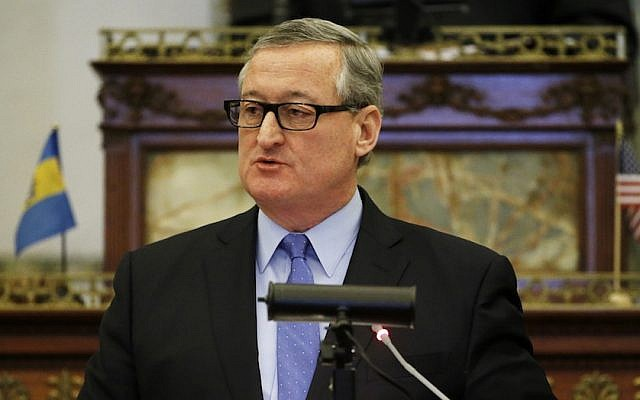 Philadelphia mayor Jim Kenney delivers an address to city council Thursday, March 3, 2016, at City Hall. (AP/Matt Rourke)