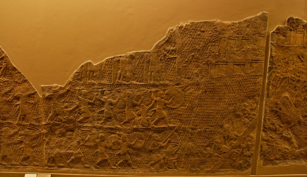 Part of the Lachish Relief, on display at the British Museum. (CC BY-SA Mike Peel, Wikimedia Commons)