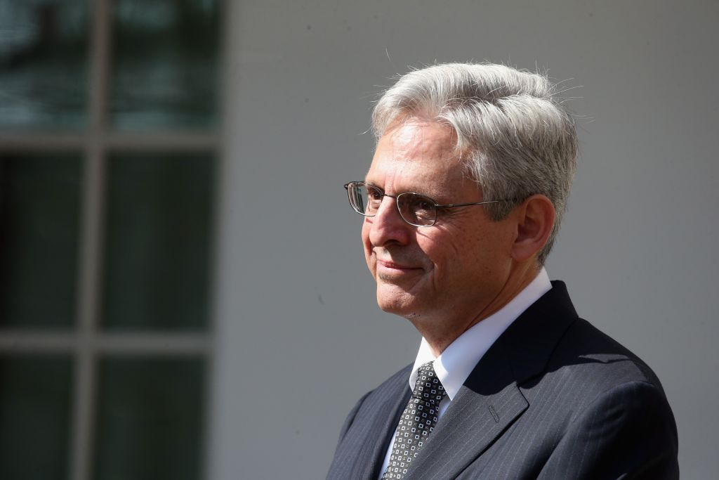 Judge Merrick Garland being introduced by President Barack Obama as a nominee for the Supreme Court in the Rose Garden at the White House, March 16, 2016. (Mark Wilson/Getty Images/JTA)