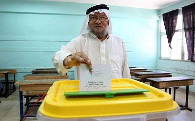 Jordanians vote in elections, Amman, Jordan, Tuesday, Sept. 20, 2016. (AP Photo/Raad Adayleh)