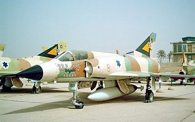 A French Dassault Mirage III fighter jet on display at the Israeli Air Force museum in Beersheba. (Wikimedia)