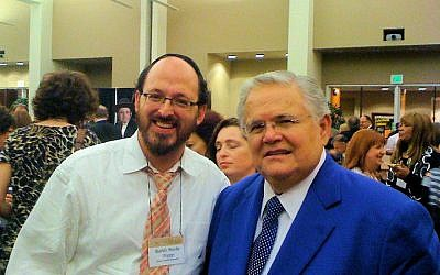 English Orthodox Rabbi Moshe Trepp, pictured here with San Antonio Pastor John Hagee in 2010, is the campus rabbi at the University of Texas. (Facebook)