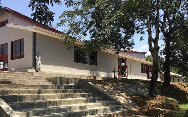 The new synagogue in Nabagoye, Uganda. (Courtesy of Be'chol Lashon via JTA)