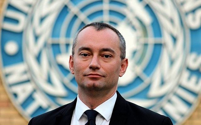 UN Special Coordinator Nikolay Mladenov, February 9, 2015. (CC BY-SA Ottokars, Wikipedia)