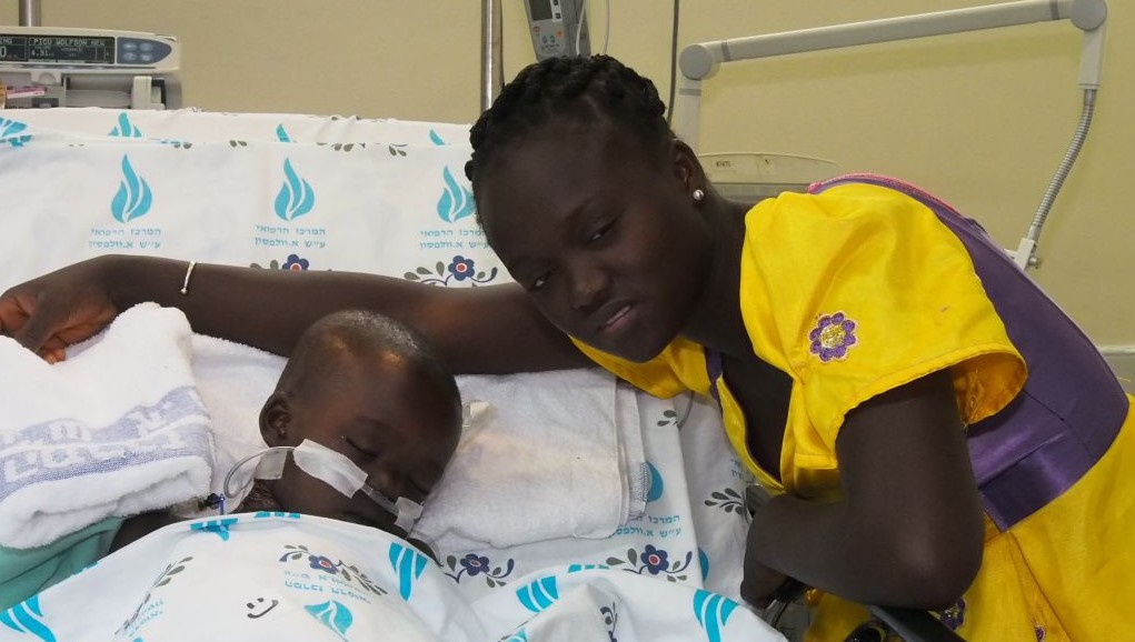 Sanusay Demba, one of the seven Gambian children treated in Israel with the help of Paul Charney. Sanusay went on to make a complete recovery. (Courtesy)