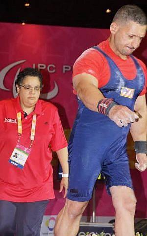 Ahed Shafik in Rio, with coach Mary Hodge. (Courtesy Mary Hodge)