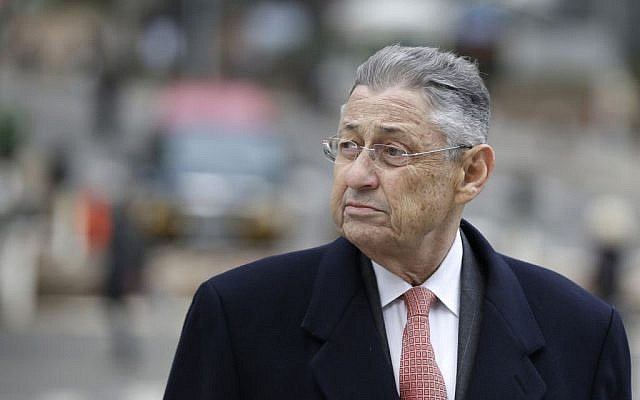 Former New York Assembly Speaker Sheldon Silver arriving at the courthouse in New York, November 24, 2015. (Seth Wenig/AP Images/JTA)