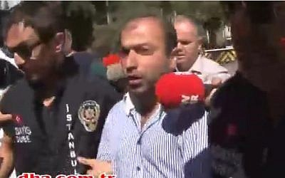 Assailant Abdullah Çakıroğlu outside court in Istanbul September 18 2016 (Screen capture: YouTube)