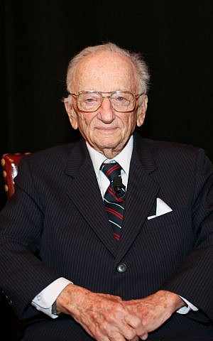 Ben Ferencz donated $1 million for the establishment of the Ferencz International Justice Initiative. (Michael Priest/USHMM)