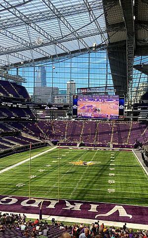Interior of US Bank Stadium. (Creative Commons/Darb02)