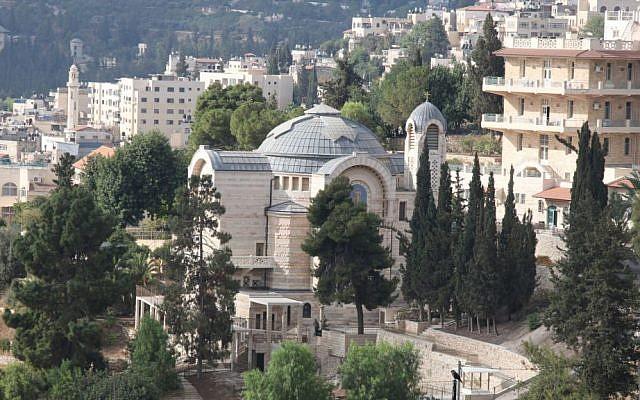The Church of St. Peter, a Roman Catholic church built in 1931. (Shmuel Bar-Am)
