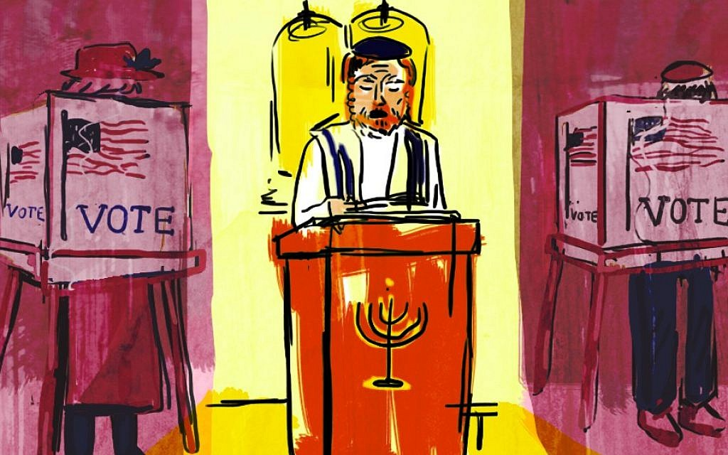 Rabbis in swing states say their High Holidays sermons won't address the election head on, but will touch on more general civic themes. (Lior Zaltzman/via JTA)