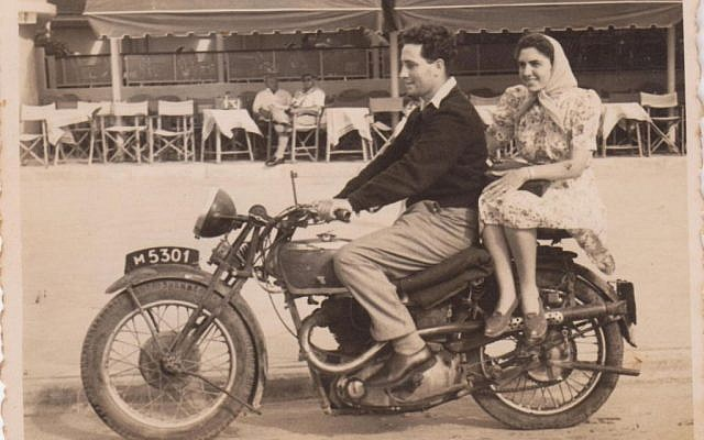 Shimon and Sonia Peres on their wedding day in 1945 at Kibbutz Alumot (IDF Archives)