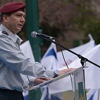 Maj. Gen. Aharon Haliva during a ceremony in June 2014. (Israel Defense Forces)