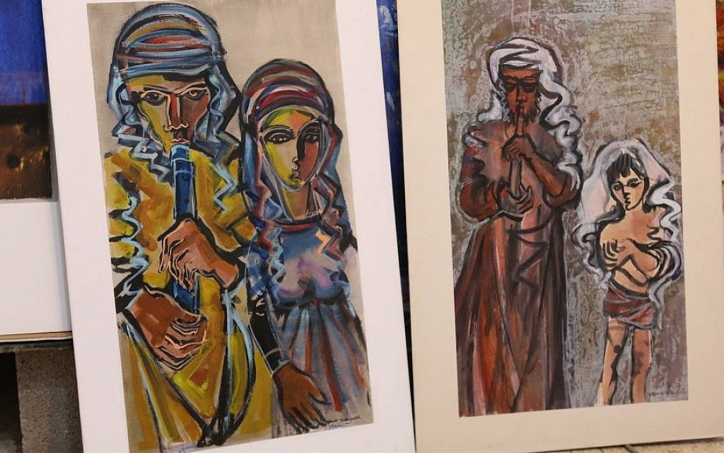 Yitzhak Greenfield, a native New Yorker who has lived in Ein Kerem for about 50 years, paints with oil, acrylic and water color on canvas and paper. (Shmuel Bar-Am)