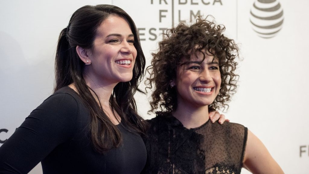Abbi Jacobson and Ilana Glazer at a 'Broad City' screening during the Tribeca Film Festival in New York City, April 17, 2016. (Roy Rochlin/FilmMagic/via JTA)