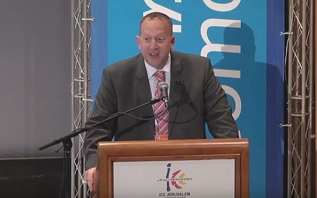Jeremy Newmark, chair of the Jewish Labour Movement (YouTube screenshot)