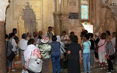 The Cenacle, traditionally believed to be the site of Jesus's Last Supper. (Shmuel Bar-Am)