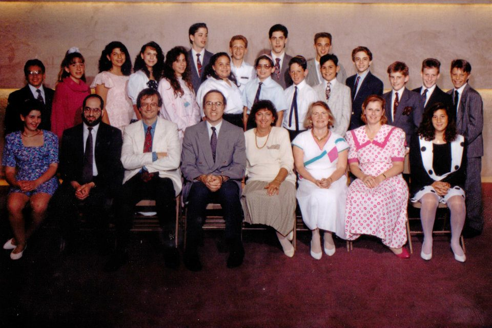 Commack Jewish Center's 1991 religious school graduates. Matt Lebovic is in the very back row, second from right.